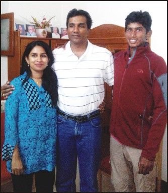 Vasisht is seen with his father Vinod Reddy and mother Asha Reddy