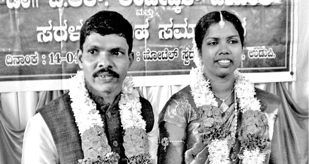 Dinaker Kenjur and Sabita Gundmi got married in Udupi on Tuesday.