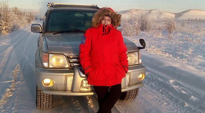 Daunting task: Nidhi Tiwari completed 5,080 km from Yakutsk to Magadan and back. | Photo Credit: Handout E Mail