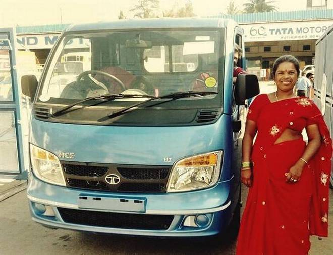 Annamma with her new truck   | Photo Credit: Handout E Mail