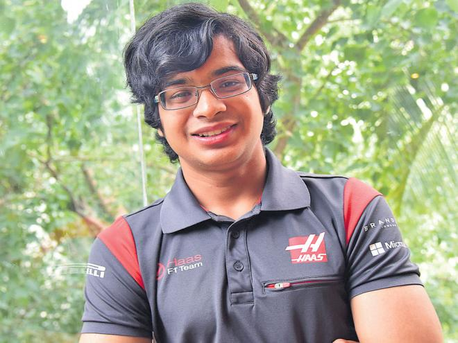 confident: Arjun Maini says he is eager to learn as much as he can from the F1 paddock. DH PHOTO/ BH SHIVAKUMAR