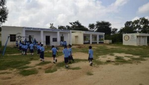 The OSAAT Rotary Government Primary School at Neelakanta Agrahara in Malur.