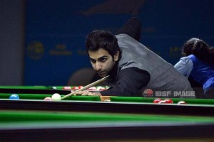 Cruise control: Pankaj Advani was at his fluent best as he outclassed Amir Sarkhosh.