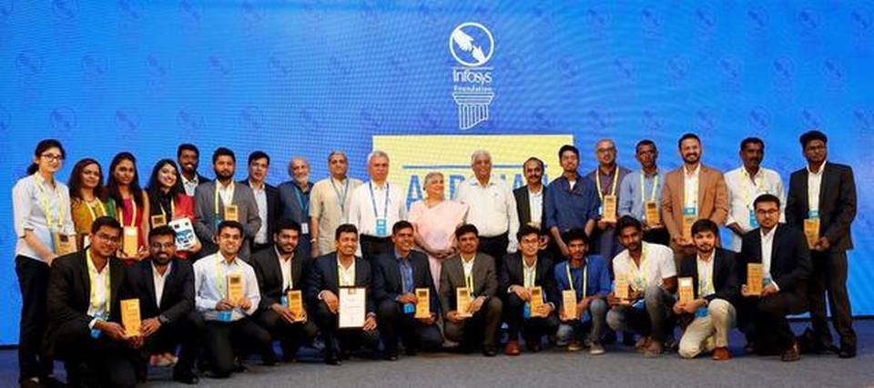The winners of Aarohan Social Innovation Award in Bengaluru on Tuesday. | Photo Credit: Special Arrangement